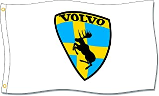 Volvo Flags 3X5FT 100% Polyester,Canvas Head with Metal Grommet
