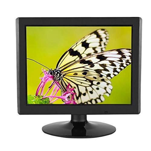 Garsentx Monitor LCD 15 Pollici Monitor VGA, Schermo a Colori con risoluzione 1024x768 per Monitor CCTV, Monitor per Computer(Unione Europea)