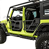 Restyling Factory -Rock Crawler Off Road Replacement Front+Rear Tubular 4 Door Set Without Mirror (Black) for 07-18...