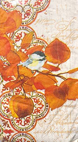 Craftmaster Bird on a Branch Guest Towels Buffet Napkins, 36 pcs