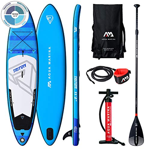AM AQUA MARINA Set de Stand Up Paddle Board Inflable Triton 2020 iSUP Espesor 10.2 Pulgadas Stand-Up Paddling Sup-Board 340 x 81 x 15 cm