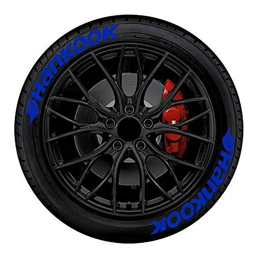 smileyshy Auto Buchstaben Aufkleber Autoreifen Aufkleber Tire Style 8 x Reifenaufkleber Hankook mit Logo Deko Aufkleber Motorrad Fahrrad Rad Dekoration