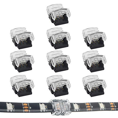 RGBZONE 10Pcs LED Strip Connector 3 Pin 10mm Board to Board,Gaples Connector for Dual Color and Digital Pixel Strip Light