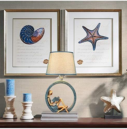 Xyamzhnn Lámpara decorativa: lámpara de brillo ajustable, interruptor de control remoto bombilla de atenuación, lectura moderna de lectura de la noche lámpara de base de la estatua decoración del hoga