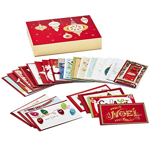 Set of 24 Premium Holiday Greeting Cards and Envelopes Hallmark Assorted Handmade Boxed Christmas Cards