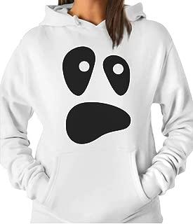TeeStars - Funny Ghoul Face Halloween Ghost Costume Women Hoodie