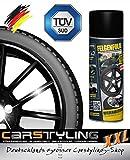 carstyling XXL Felgenfolie Mibenco schwarz glänzend (Sprühdose à 400 ml) .auch für Karosserie! ~ schneller Versand innerhalb 24 Stunden ~