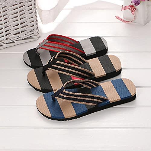 Ririhong Chanclas Nuevas Zapatillas de Verano Sandalias Zapatos Casuales para Hombres Sandalias Antideslizantes Zapatos de Suela Blanda Amantes-Black_43