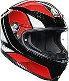 AGV Helm K6 ECE MULTI MPLK HYPHEN BLACK/RED/WHITE L