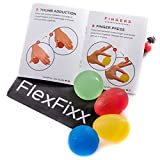 Hand Therapy Balls - 4 Piece Hand Therapy Balls for Arthritis | Stress Balls For Adults & Hand Therapy Balls After Surgery | 2 different Shapes & 4 Different Resistance Levels Hand Therapy Kit