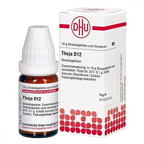 DHU Thuja D12 Globuli, 10 g Globuli