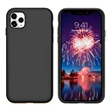 iPhone 11 Pro Case YINLAI Liquid Silicone Slim Fit Soft Rubber Cover Non Slip Grip Shockproof Protective Hybrid Hard Back Bumper Durable Man Phone Covers for iPhone 11 Pro 5.8 inch, Black
