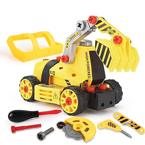 BeebeeRun 7 in 1 Montage Spielzeug Auto LKW,Kinder Spielzeug ab 3,Spielzeug 4 Jahre Junge,Lastwagen Autos,65 TLG,Kleinkind Baustelle Kinder Spielzeug ab 5 ab 6