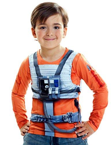 viving Kostüme viving costumes231041Luke Skywalker Boy Lange Ärmel Shirt (6–8Jahre, One Size)