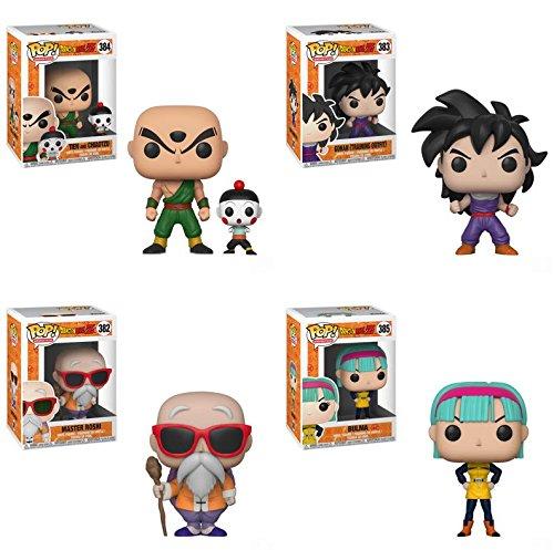 POP! Animation: Dragon Ball Z Chiaotzu and Tien, Gohan, Master Roshi, Bulma Vinyl Figures Set image