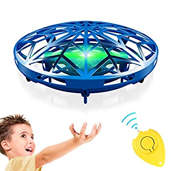 GALOPAR UFO Drone Toys for Kids Hand Operated Mini Drone for Kids Gifts Hand Drone Indoor Small UFO Toy with USB Rechargeable and 360°Rotating LED Lights Flying UFO Toy Kids