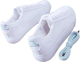 [CAIXINGYI] 小さな白い靴 女性 2019年 春 新しい 韓国 ワイルド 平底 スニーカー 学生 レディースシューズ 余暇 白い靴 ファッション トレンド