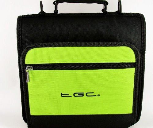 New Electric Green & Negro Deluxe Twin Compartimento Hombro Bolsa para el ASUS Transformer Pad TF300T Tablet–Funda y Accesorios
