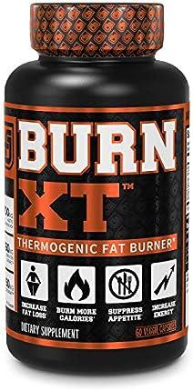 BURN-XT suplemento de pérdida de peso, quemador de grasa termogénico, supresor de apetito, y potenciador de energía, con quema grasa acetyl premium y L-carnitina, extracto de té verde y más, 60 píldoras naturales de dieta vegetarianas.