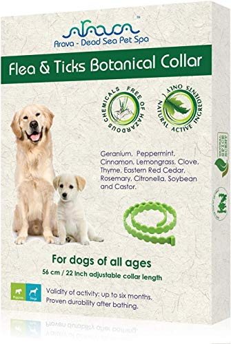 Arava Flea & Tick Prevention Collar - for Dogs & Puppies - Length-25''...