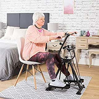 Jumix Gym Foot, Legs and Arms Exerciser Machine Fitness Exercise Cycle for Weight Loss at Home_Black (Y2020)