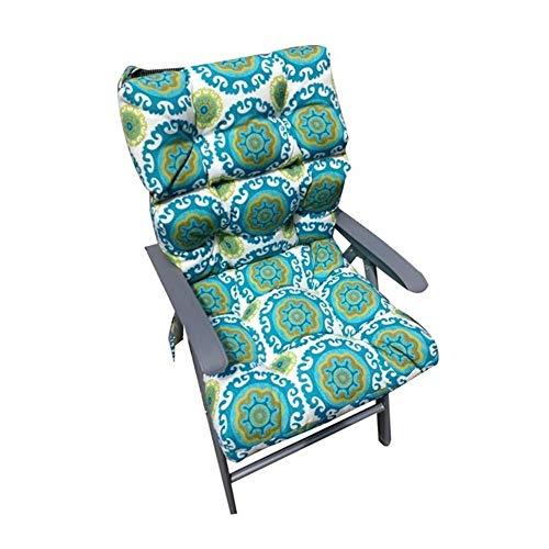 Cojín de silla de decoración de oficina en casa Cojín de la silla verde de interior y al aire libre banco Cojín Terraza Tumbona Cojín de banco, muy adecuado for la decoración del hogar Jardín sillones