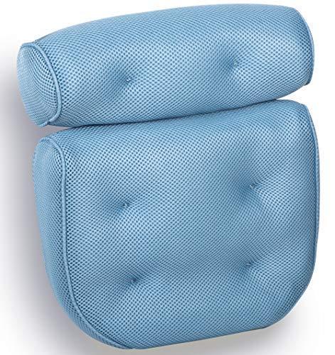 Royal Casa Bath Pillow – Non Slip, Luxury Bathtub Pillow...