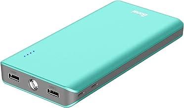 BONAI Powerbank 20000mAh [ Universale, 4.8A Output, Torcia, Auto] Caricatore Portatile Carica Batterie Portatili Cellulare Batteria Caricabatterie per Smartphone - Turquoise (con Due Micro Cavi)