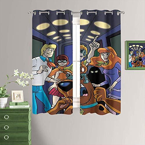MRFSY Cortinas opacas para oscurecer la habitación, diseño de Scooby-doo, para dormitorio de 106 x 182 cm