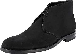 Prada Men's 2TC049 4G5 F0312 Leather Lace-up Shoes