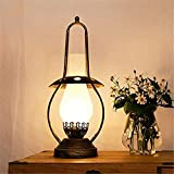 SHCOE Lámpara de la Cama Lámpara de Mesa de Hierro Industrial Retro, E27 Luces de Vendimia nostálgica, Sala de Estar Creativa Oficina de Mesa de Mesa de Mesa de Mesa de Mesa
