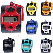 XGQ portátil Cinco dígitos Manual Pulse Contador electrónico (Color al Azar de Entrega) (Color : Random Color Delivery)