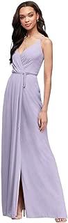 Double-Strap Long Georgette Bridesmaid Wrap Bridesmaid Dress Style F19755
