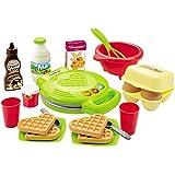 Unbekannt Spielzeug Waffeleisen mit viel Zubehör wie Eier, Milch - Kinder Küchengeräte Küchen Spielküche-Zubehör Set