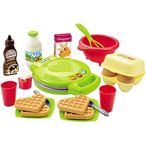 #11 Puppenservice Kinderküche Spielzeug Waffeleisen mit viel Zubehör wie Eier, Milch - Kinder Küchengeräte Küchen Spielküche-Zubehör Set