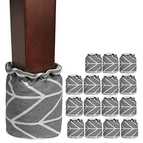 Mogokoyo16x Stuhlbeinsocke Möbel Socken Anti-Rutsch Wollsocken Hocker Tabellen Cotton Caps Fußboden Schutz Stuhl Bein Floor Protector (16 Stück)