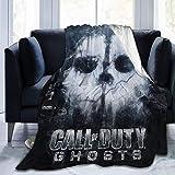 N \ A Manta de Call of War Duty Ultra suave, ligera, cálida de felpa para todas las estaciones para sofá cama
