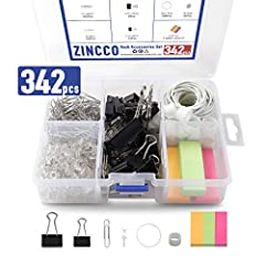 Office Supplies Kit: Packed in a rugged reusable plastic organizer case with 5 separated compartments for quick access and protection Starter Kit: Everything you need to start school, business, new job, or a project with high quailty products, supply...