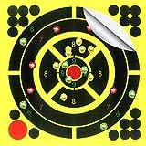 Objetivos de tiro de 10 hojas - Pegatinas de objetivos de salpicaduras reactivas de papel autoadhesivo de 8 pulgadas, ideal para todas las armas de fuego, rifles, pistolas, AirSoft, BB y pistolas