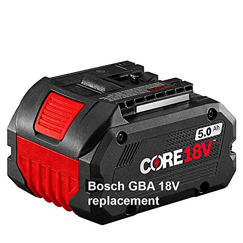 Bosch GBA 18V63 Core 18V 5.0 Ah Replacement Lithium Ion Battery Pack, Performance Battery for Reciprocating Saws, Circular Saws, Grinders and Rotary Hammers + European Hand Cream + e-Book