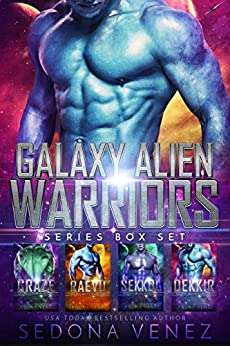 Galaxy Alien Warriors - The Box Set: A SciFi Alien Warrior Romance - The Complete Collection by [Sedona Venez]