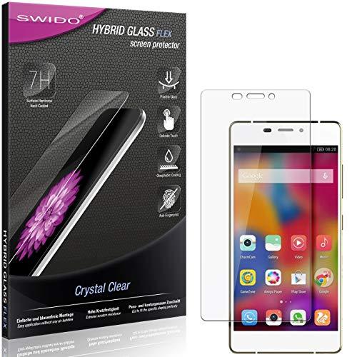 SWIDO Panzerglas Schutzfolie kompatibel mit Gionee Elife S7 Bildschirmschutz-Folie & Glas = biegsames HYBRIDGLAS, splitterfrei, Anti-Fingerprint KLAR - HD-Clear
