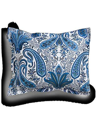 GANT Key West Paisley Funda de almohada individual color Insignia Azul Tamaño 40 x 80 cm Ornamento Paisley