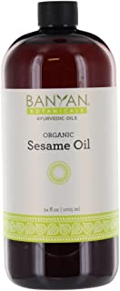 Banyan Botanicals Sesame Oil – Organic & Unrefined Ayurvedic Oil for Skin, Hair, Oil Pulling & More – Multi...