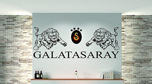 3 Farbig Galatasaray als Wandtattoo Beschreibung beachten!! I Aufkleber in 27 Farben und versch. Gr. - ca. 166 x 60 cm (bxh)- SCHWARZ