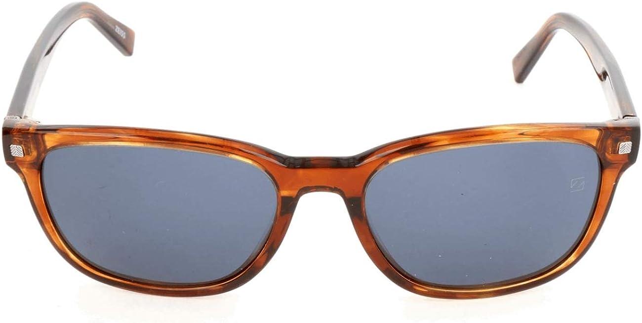 Sunglasses Ermenegildo Attention brand Zegna EZ 0075 53V blonde blue Branded goods havana