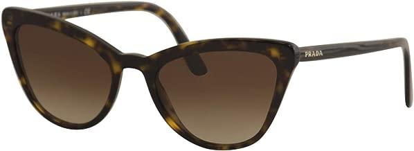 Prada PR01VS 2AU6S1 Havana Catwalk Cats Eyes Sunglasses Lens Category 3 Size 56