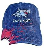 Cape Cod Great White Shark Bite Baseball Hat (Light Blue Shark Bite)