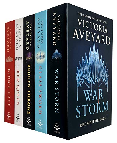 Victoria Aveyard Red Queen Series 5 Books Collection Set (Red Queen, Glass Sword, King'S Cage, War Storm, Broken Throne)