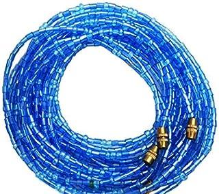 Cintura africana da donna per girovita, con perline; 3pezzi per set